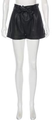 Rag & Bone Leather High-Rise Shorts