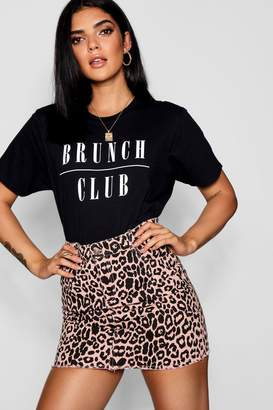 boohoo Brunch Club Slogan T-Shirt