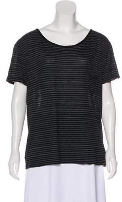Saint Laurent Semi-Sheer Striped T-Shirt