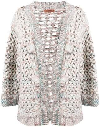 Missoni eyelet knit long cardigan