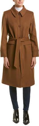 Sofia Cashmere sofiacashmere Sofiacashmere Long Wool-Blend Coat