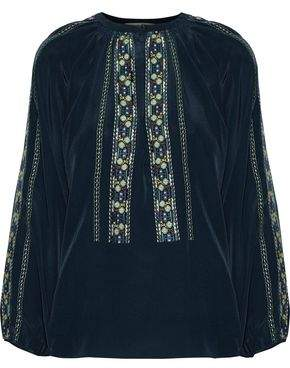 Vanessa Bruno Embroidered Silk Top