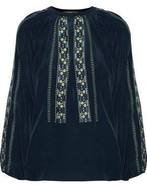 Vanessa Bruno Embroidered Silk Top