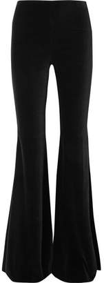 Alice + Olivia Jinny Velvet Flared Pants - Black