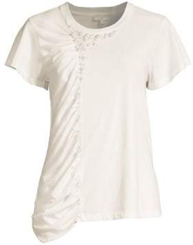 Joie Sikoya Cotton Draped Tee