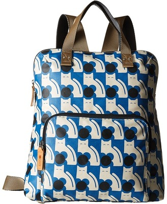 Orla Kiely Poppy Cat Print Backpack Tote $196 thestylecure.com