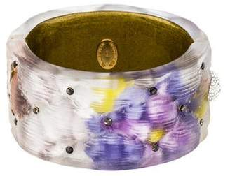 Alexis Bittar Cushion Studded Hinge Bangle