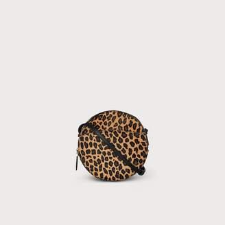 LK Bennett Luna Leopard Print Calf Hair Shoulder Bag