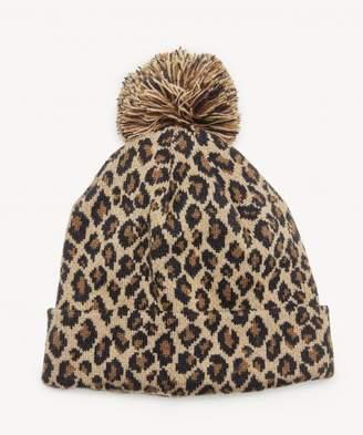 Sole Society Leopard Beanie w/ Pom