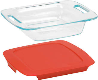 Pyrex Easy Grab 8 Square Baking Dish with Red Plastic Cover