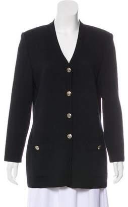 St. John Knit Button-Up Cardigan