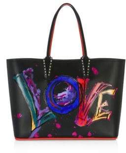 Christian Louboutin Cabata Paris Love Leather Tote
