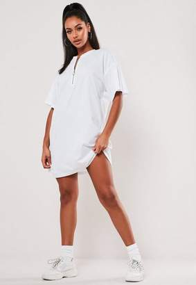 Missguided Oversized Zip Front Dress