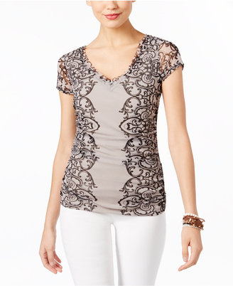 INC International Concepts Embroidered Lace Blouse, Only at Macy's $49.50 thestylecure.com