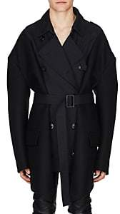 Maison Margiela Men's Gabardine & Wool Melton Oversized Trench Coat - Navy