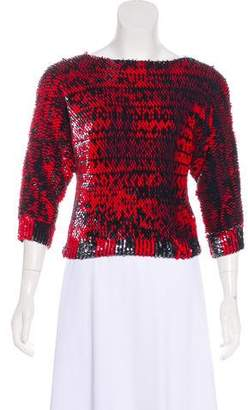 Marc by Marc Jacobs Sequined Crop Top