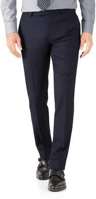 Charles Tyrwhitt Navy Herringbone Slim Fit Italian Suit Wool Pants Size W32 L34