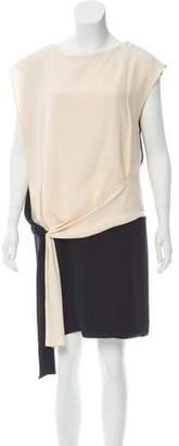 Chloé Crepe Two-Tone Dress