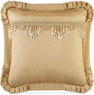 "J Queen New York Napoleon Gold 20"" Square Decorative Pillow"