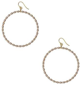 "Chan Luu 2"" Hoop Earrings in Bronze Crystals and Gold"