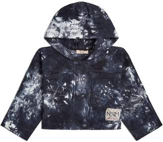 N°21 Tie-Dye Hooded Cargo Jacket