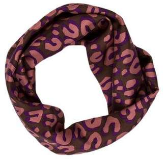 Louis Vuitton Leopard Silk Infinity Scarf