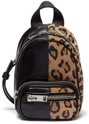 Alexander Wang 'Attica' mini leopard print suede leather crossbody backpack