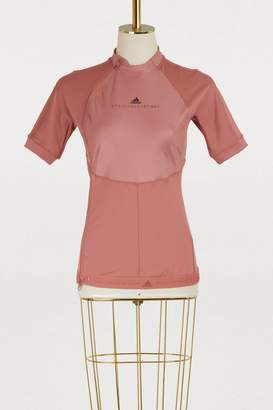 adidas by Stella McCartney Zippered running T-shirt