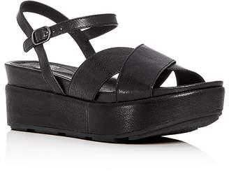 Eileen Fisher Women's Juno Leather Crisscross Platform Sandals