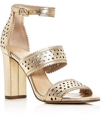 Botkier Women's Gemi Perforated Leather Block Heel Sandals