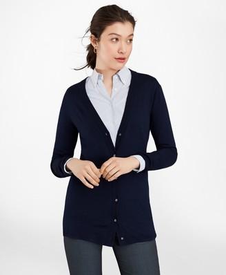 Brooks Brothers Merino Wool Long Cardigan