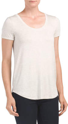 Rolled Cuff Scoop Neck Tee