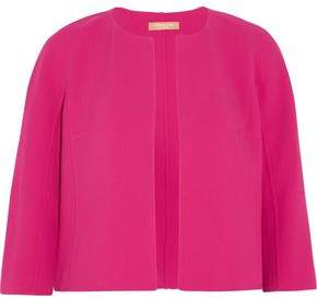 Michael Kors Stretch Wool-Blend Woven Jacket