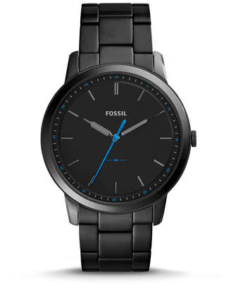 Fossil The Minimalist Slim Three-Hand Black Stainless Steel Watch
