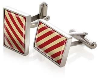 M-Clip Rectangular Striped Cufflinks