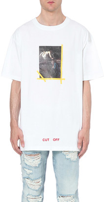 OFF-WHITE C/O VIRGIL ABLOH Annunciazione cotton t-shirt $174 thestylecure.com