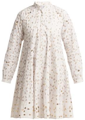 Juliet Dunn Leaf Print Cotton Jacket - Womens - White Multi