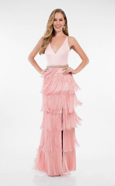 Terani Prom - Gorgeous Fringe Dress with Side Slit 1715P2972
