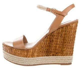 Salvatore Ferragamo Marlene Leather Wedges