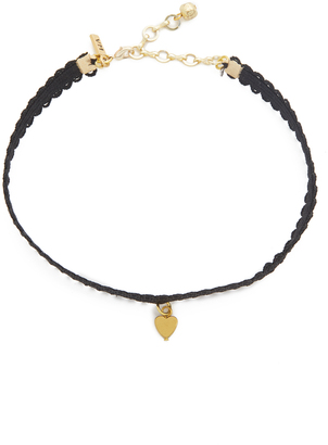 Vanessa Mooney Black Lace Choker with Heart Charm $40 thestylecure.com