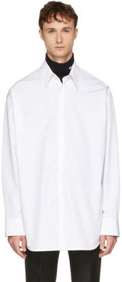Calvin Klein White Embroidered Oversized Shirt