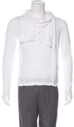 3.1 Phillip Lim Cowl Neck Henley T-Shirt