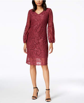 NY Collection Petite Lace A-Line Dress