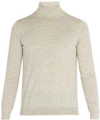 Lanvin Wool Roll Neck Sweater - Mens - Off White