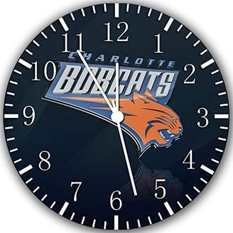 "Ikea Charlotte Bobcats Wall Clock 10"" Will Be Nice Gift and Room Wall Decor W280"