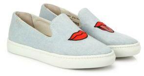 Soludos Lip Denim Skate Sneakers $89 thestylecure.com