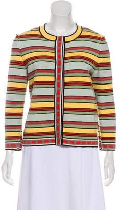 Fendi Striped Collarless Jacket