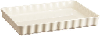 Emile Henry Deep Rectangular Tart Dish - Clay