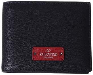 Valentino Black Logo Wallet