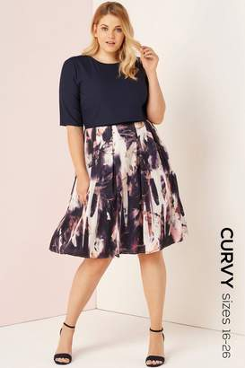 Girls On Film Outlet Floral Blur Print 2 In 1 Dress